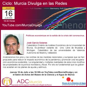"""Conferencia """"Políticas económicas en la salida de la crisis del coronavirus"""" @ 18:30"""